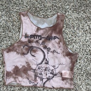 Graphic Cropped Tank